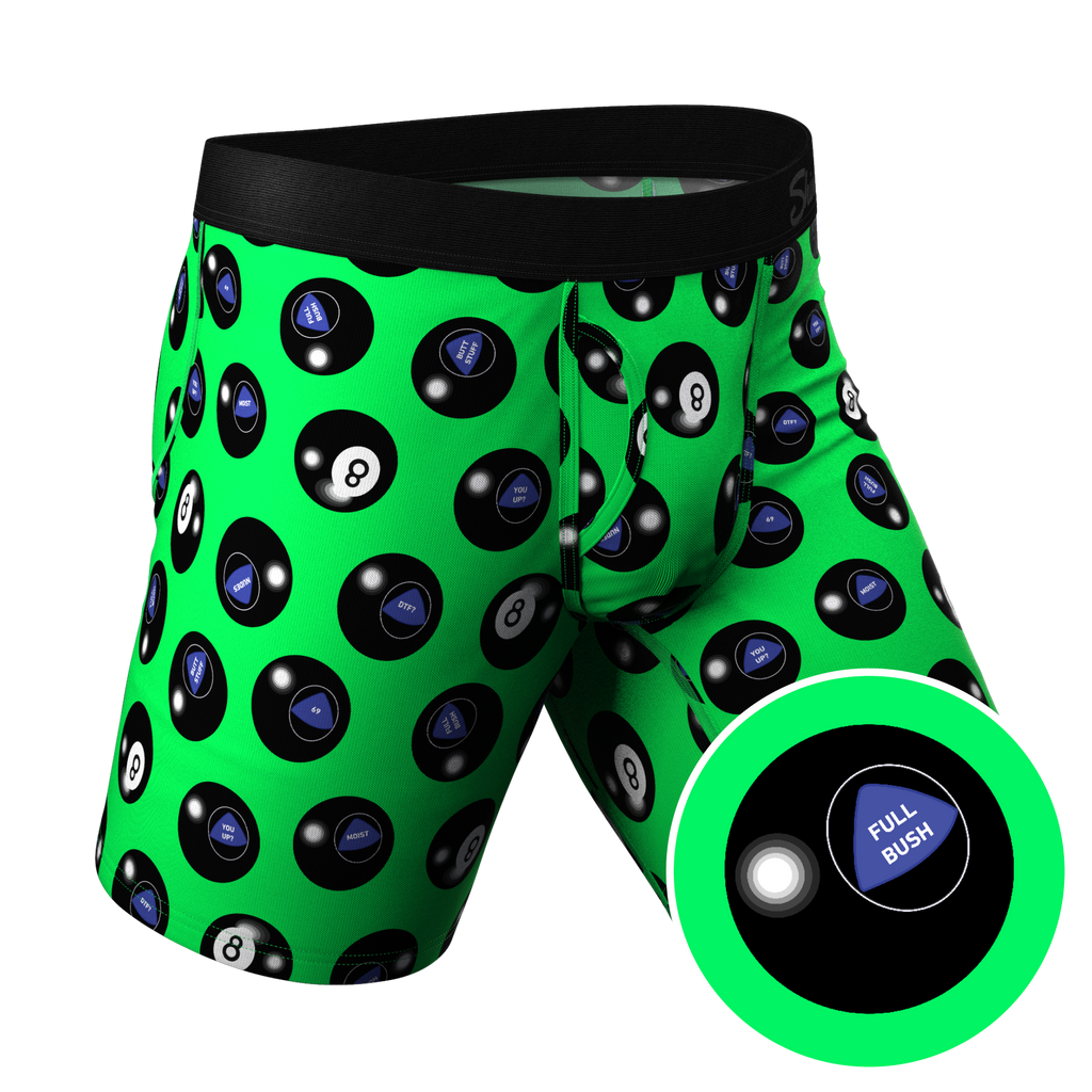The Shake And Wait | Long Leg Magic 8 Ball Ball Hammock Pouch Underwear With Fly