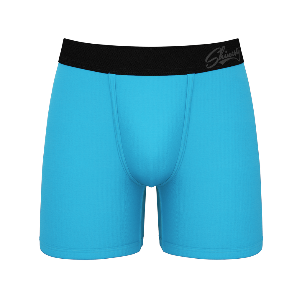 The Sea Foam Blues | Bright Blue Ball Hammock Pouch Underwear
