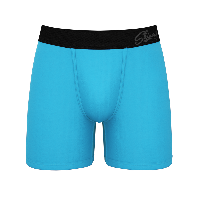 Blue ball hammock boxer briefs for men