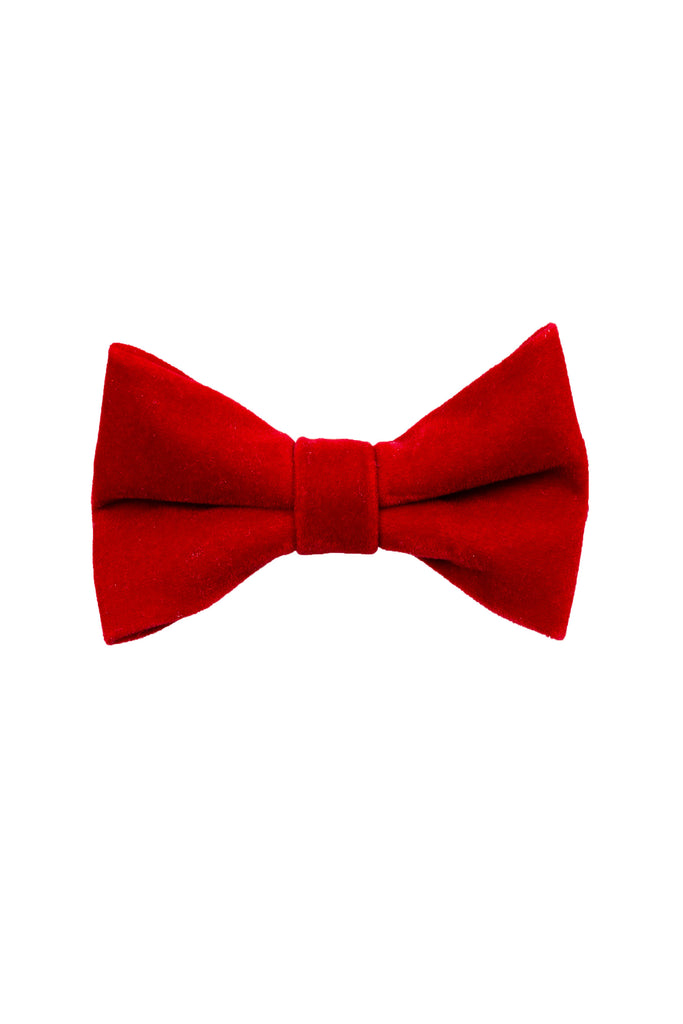 The Smoking Dens | Red Velvet Bow Tie