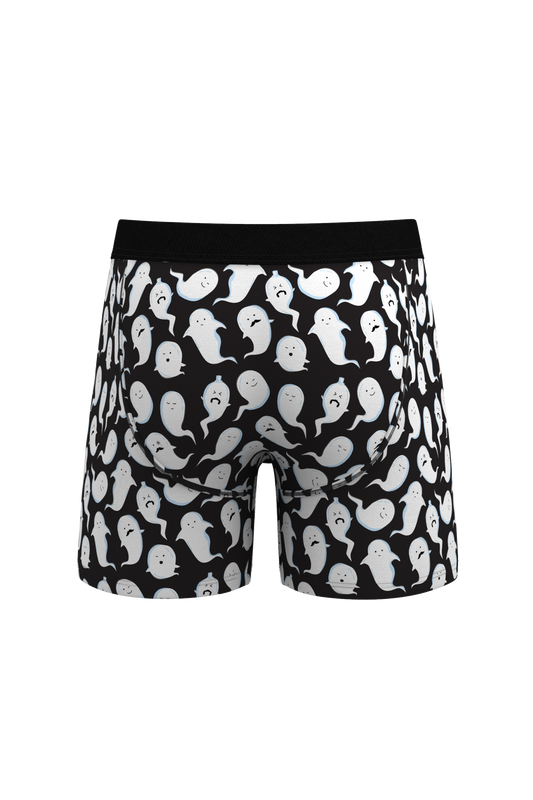 black and white halloween mens boxers