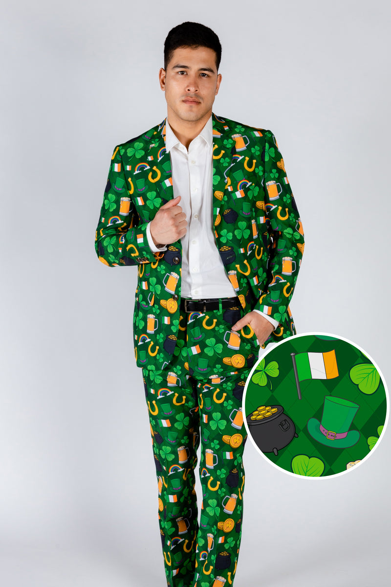 Men's Green St. Paddy's Day Suit Blazer