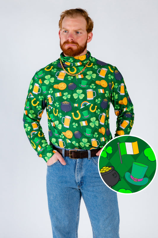 St. Patrick's day printed turtleneck