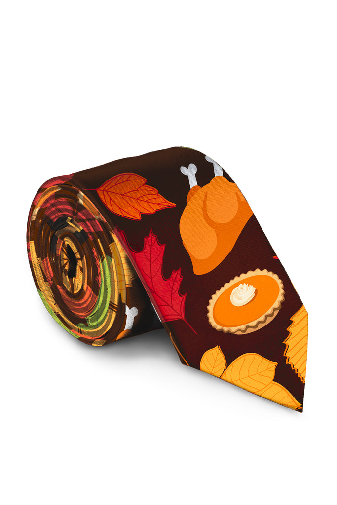 Rake Me Up Before You Go Go | Thanksgiving Print Tie