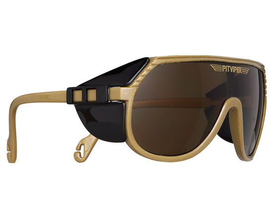 Gold pit viper sunglasses