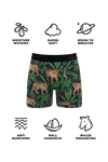 Men's tiger print ball pouch boxer briefs