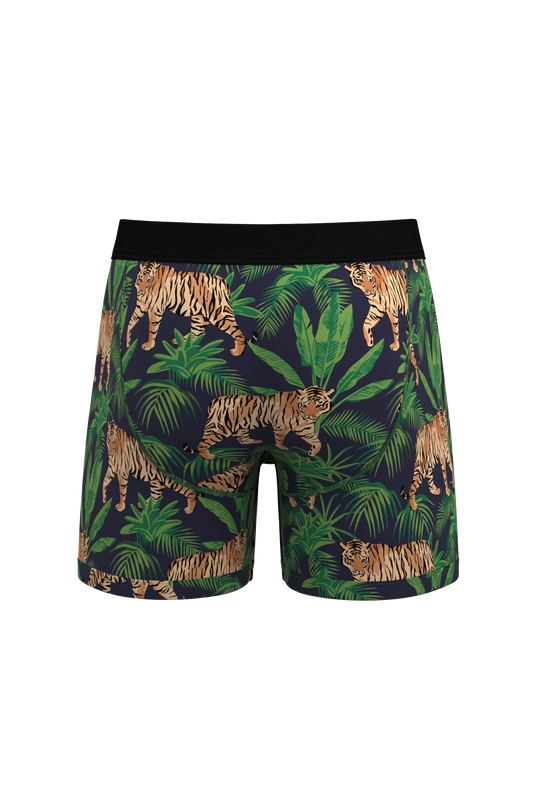 Men's tiger print shinesty pouch underwear