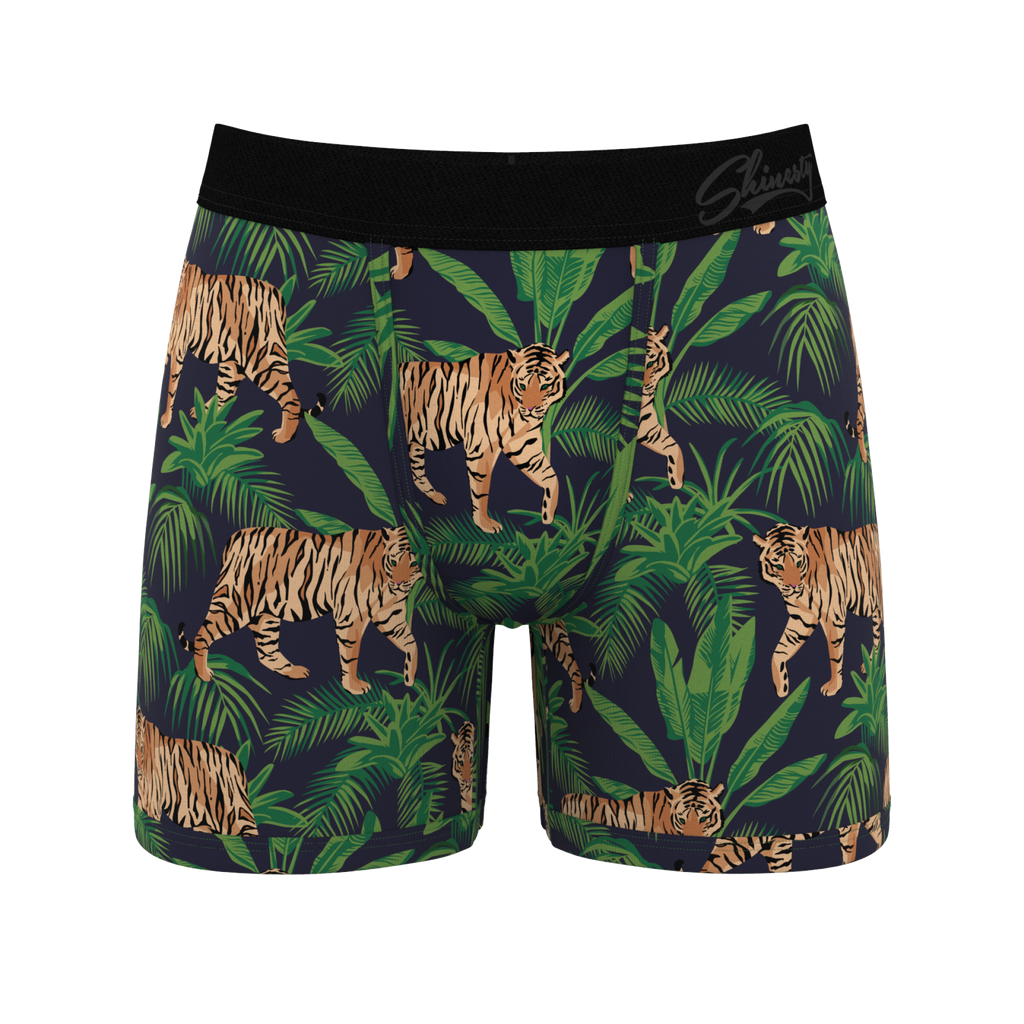 The Big Bulge Bomber | Tropical Tiger Ball Hammock Pouch Underwear