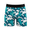 Blue waves boxers