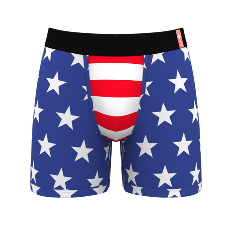 The D-Mocracies American Flag Ball Hammock Boxer Briefs