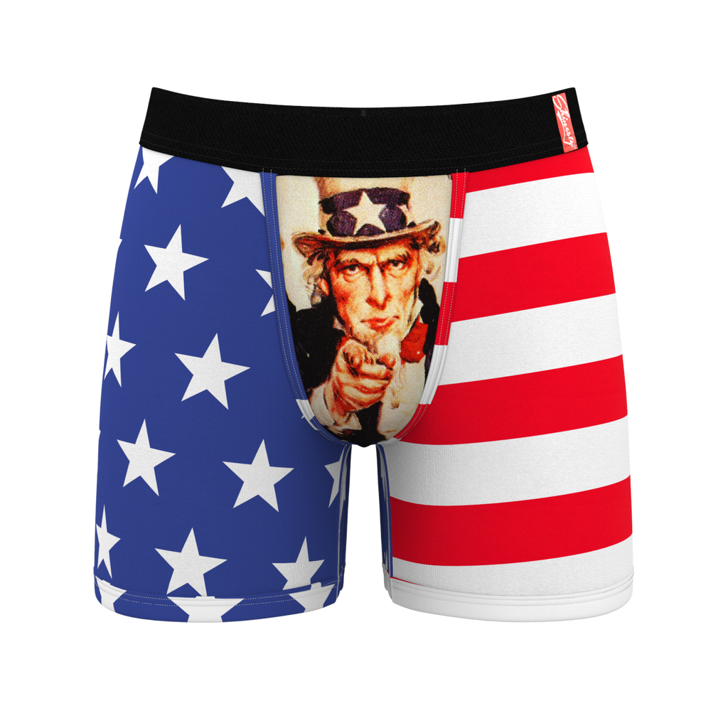 Uncle Sam On Your D American Flag Ball Hammock Boxer Briefs