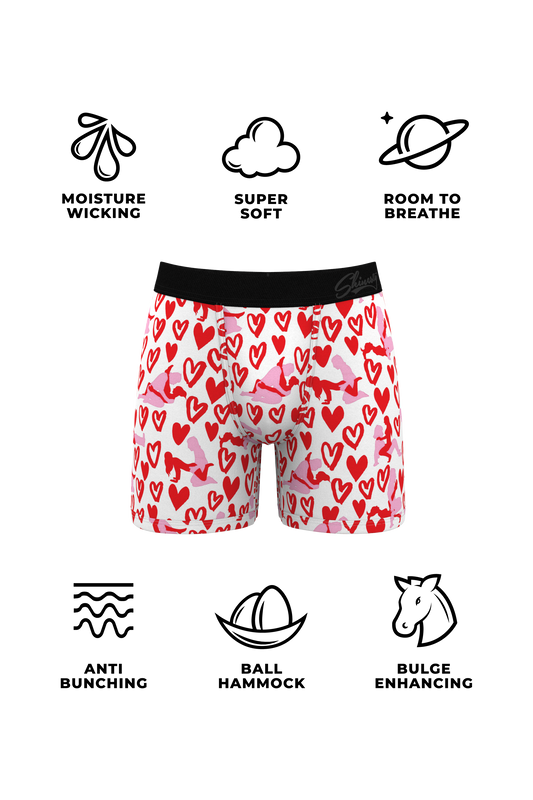 Matching valentines day boxers and thong