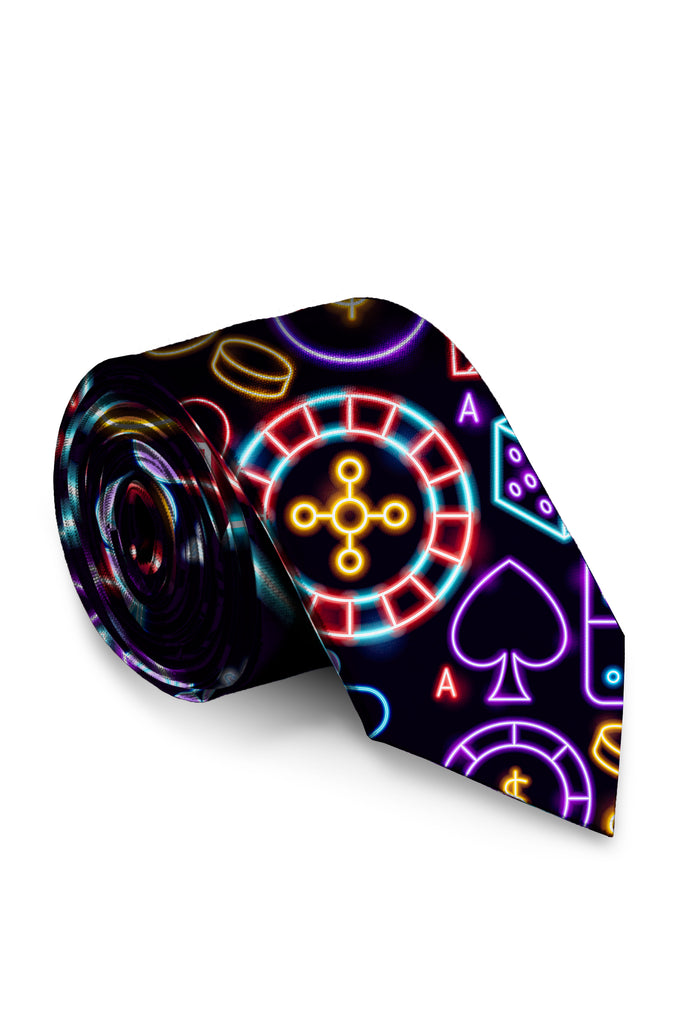 The Pappagiorgio | Las Vegas Neon Lights Tie