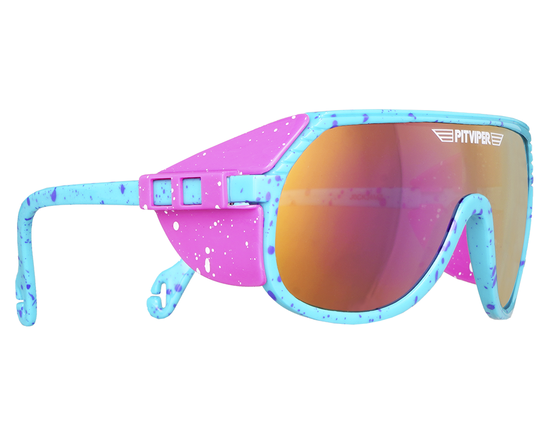 Teal and hot pink pit vipers