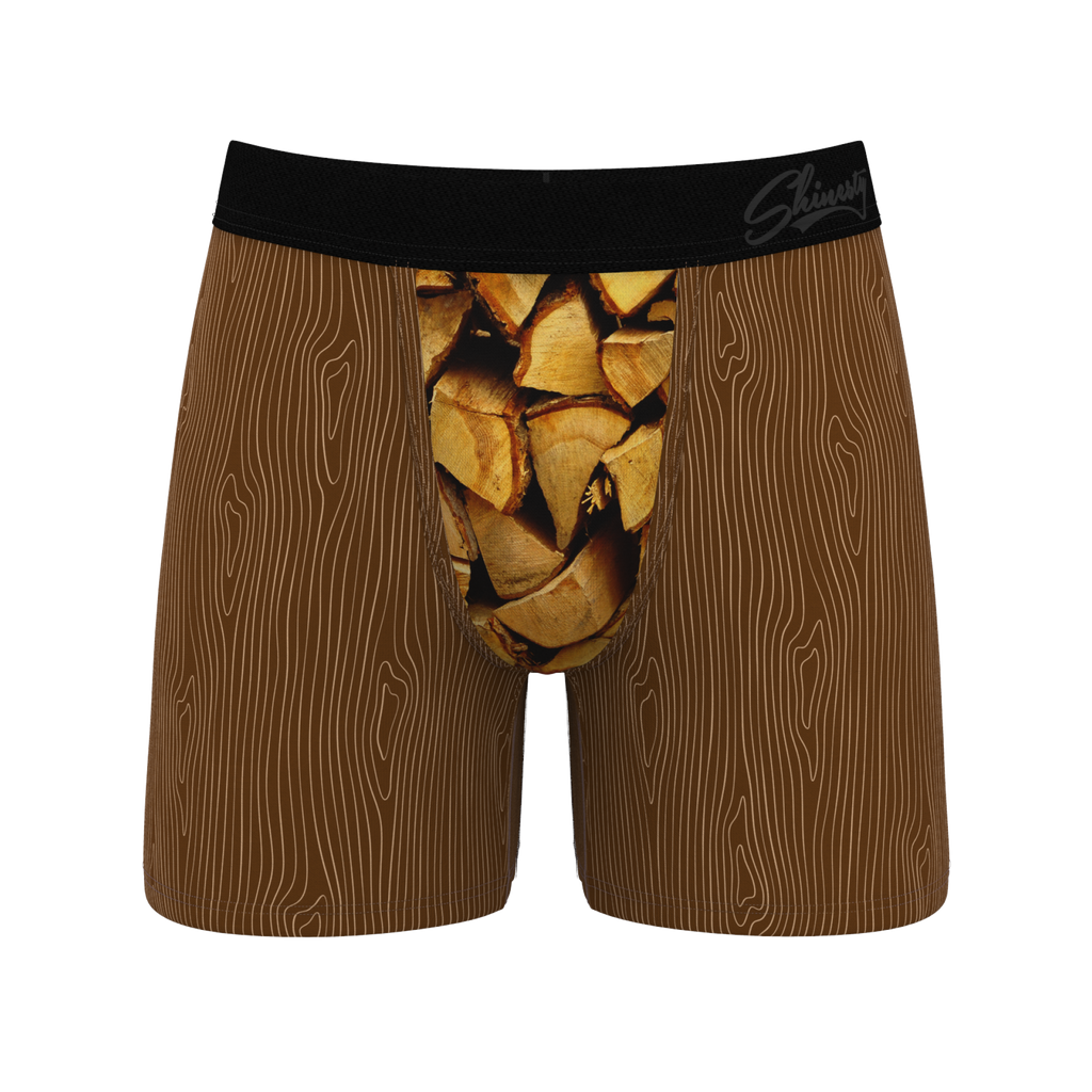 Wood You Look At That | Wood Pile Ball Hammock Boxers