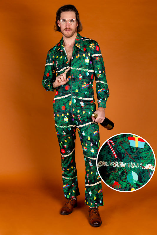 The Christmas Tree Camo | Christmas Tree Print Christmas Flight Suit