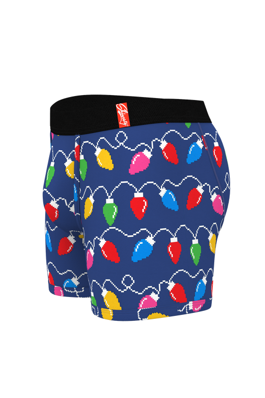 Men's christmas lights pouch boxers