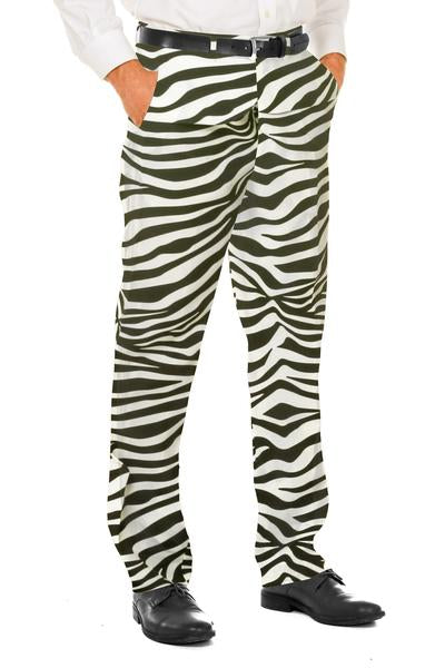The In The Black | Zebra Pattern Suit Pants