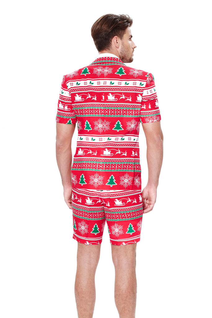 red ugly christmas sweater short suit for men - Cheap Mens Ugly Christmas Sweater