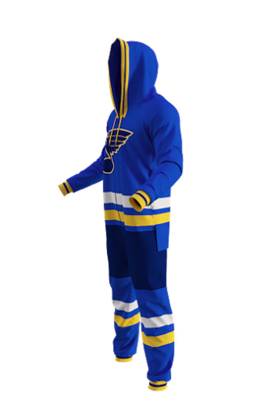 Saint Louis Blues Onesie Pajamas For Adults