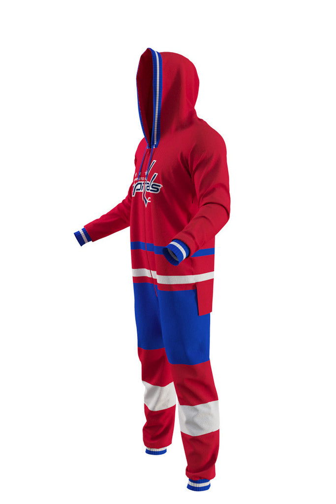 Washington Capitals Onesie Pajamas For Adults