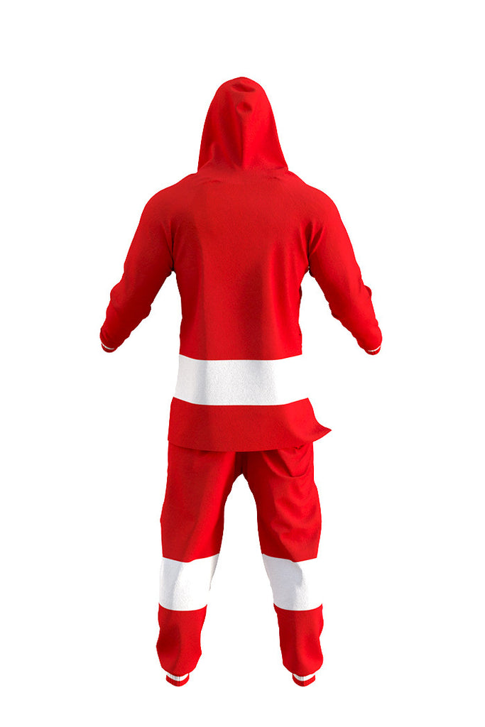 The Detroit Red Wings Onesie Rear View- Shinesty