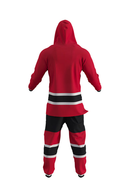 NJ Devils NHL Onesie Rear View