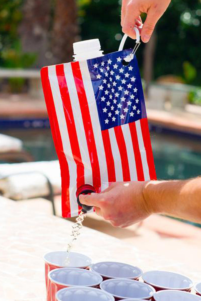 Freedom Tastes Like Booze | Collapsible American Flag Flask