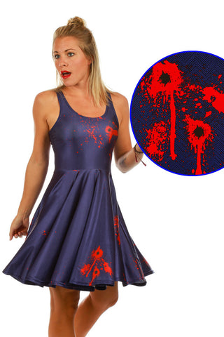 My Little Friend Gunshot Halloween Costume Dress - Shinesty