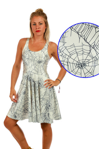The Spiderwebs Halloween Costume Dress - Shinesty