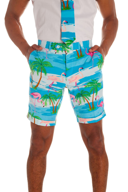 Men's short sleeve hawaiian suit