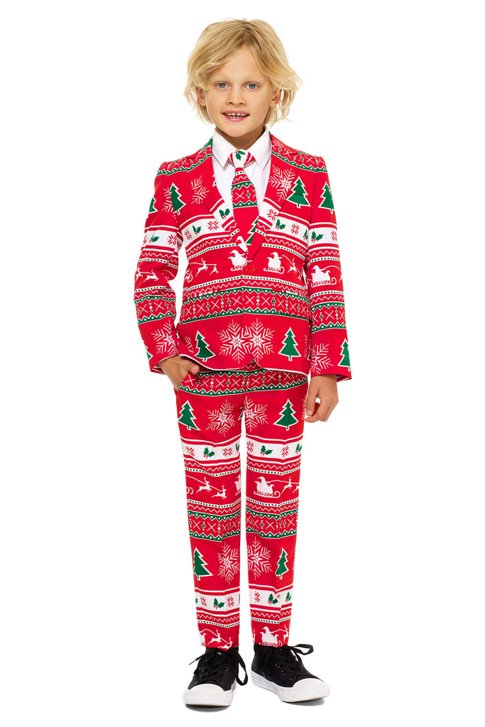 boys christmas dress suit full body