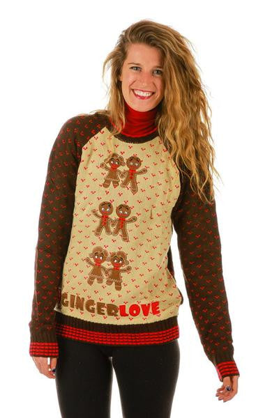 Gals Ginger Bells Ugly Christmas Sweater