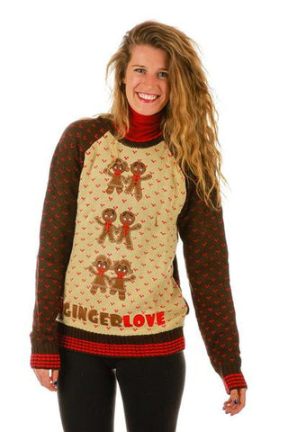 Gals Ginger Bells Ugly Christmas Sweater - Shinesty