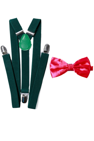 Green Suspender / Pink BT Combo - Shinesty