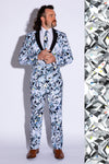 Men's Diamond Print Suit