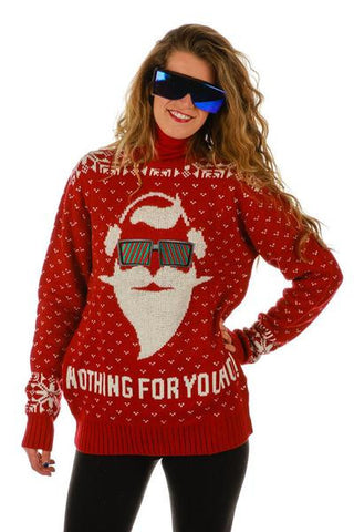 Gals O.G. Santa Nothing For You Ho Ugly Christmas Sweater - Shinesty