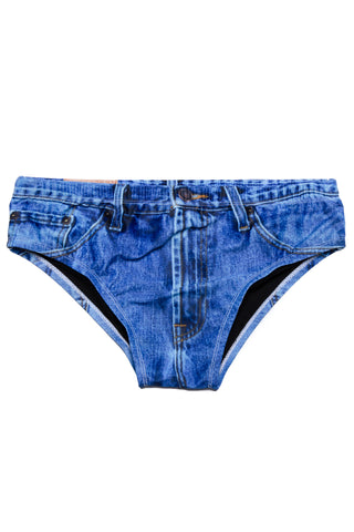 Denim swim brief