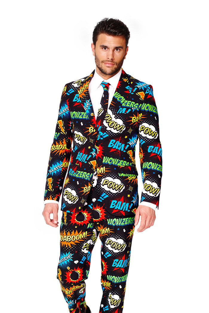 an ode to comiccon dress suit by opposuits