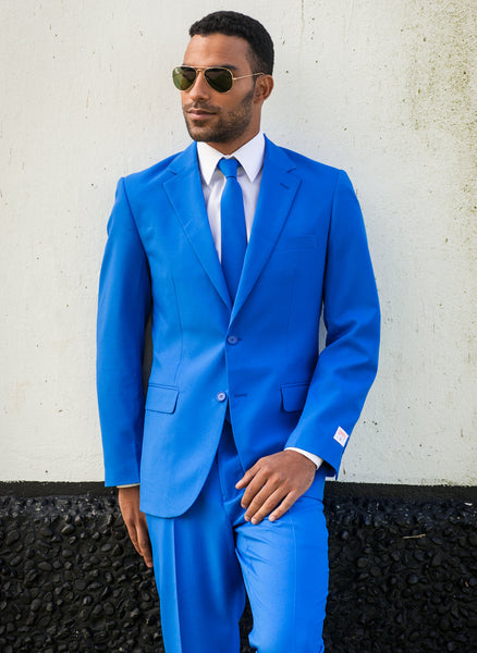 Royal Blue Suit and Tie for Men