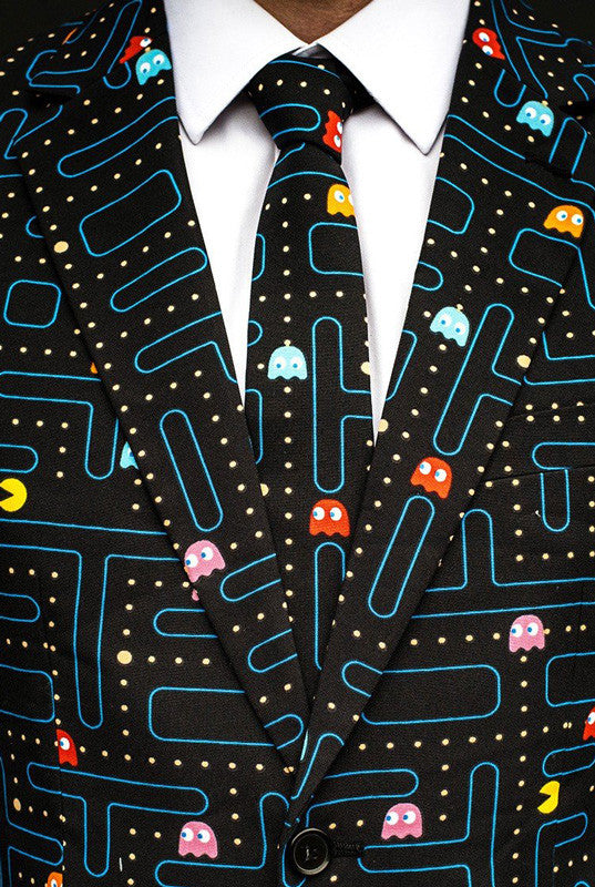The Pac-Man Waka Waka Print Dress Suit by Opposuits