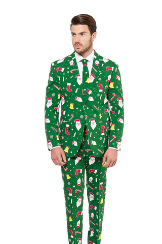The Don Juan Ugly Green Christmas Sweater Suit by Opposuits - Shinesty