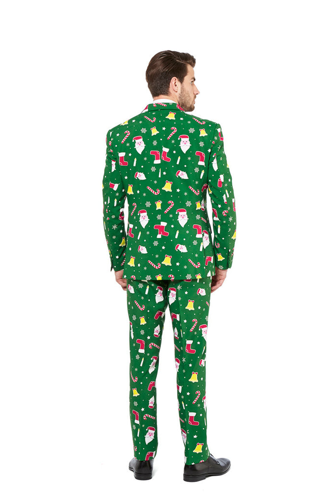 the don juan green christmas sweater suit by opposuits shinesty
