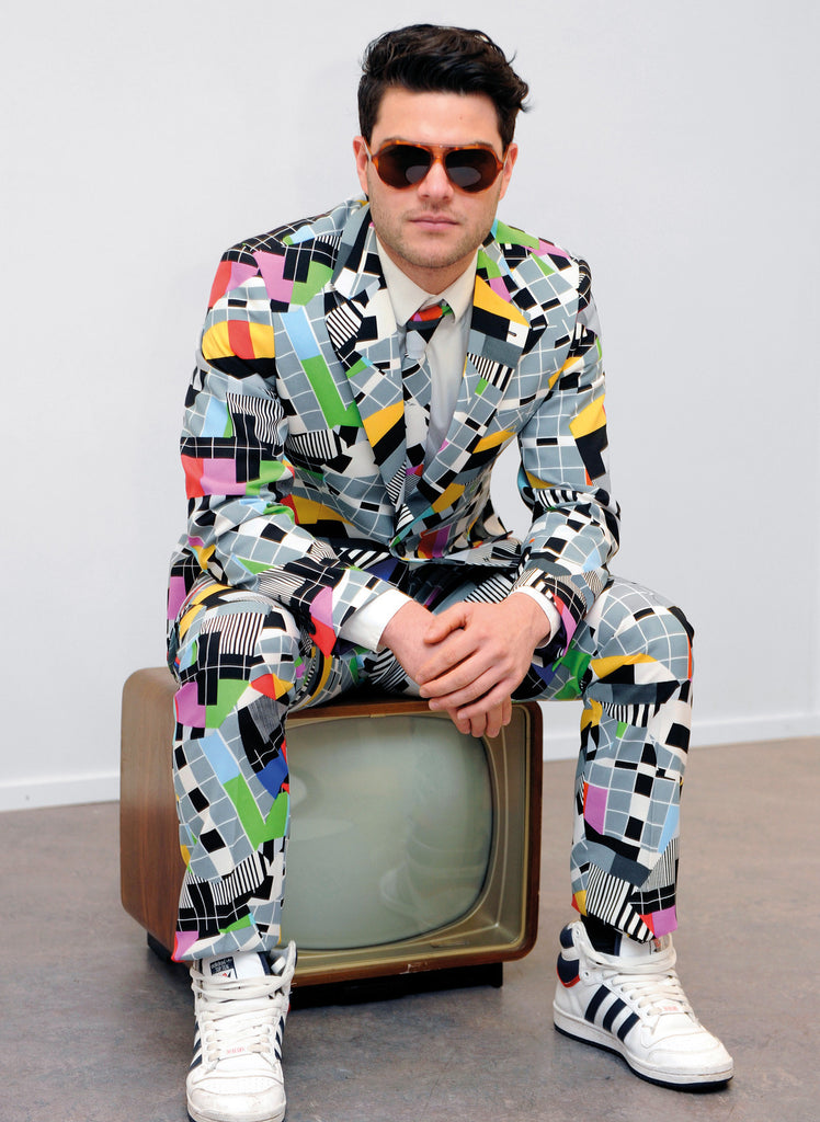 Retro Crazy 80s 90s Print Suit