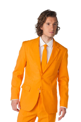 General Lee Orange Dress Blazer and Tie by Opposuits