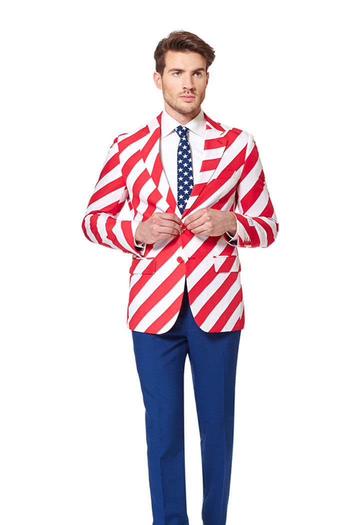 Red White And Blue Stars And Stripes Suit The Van