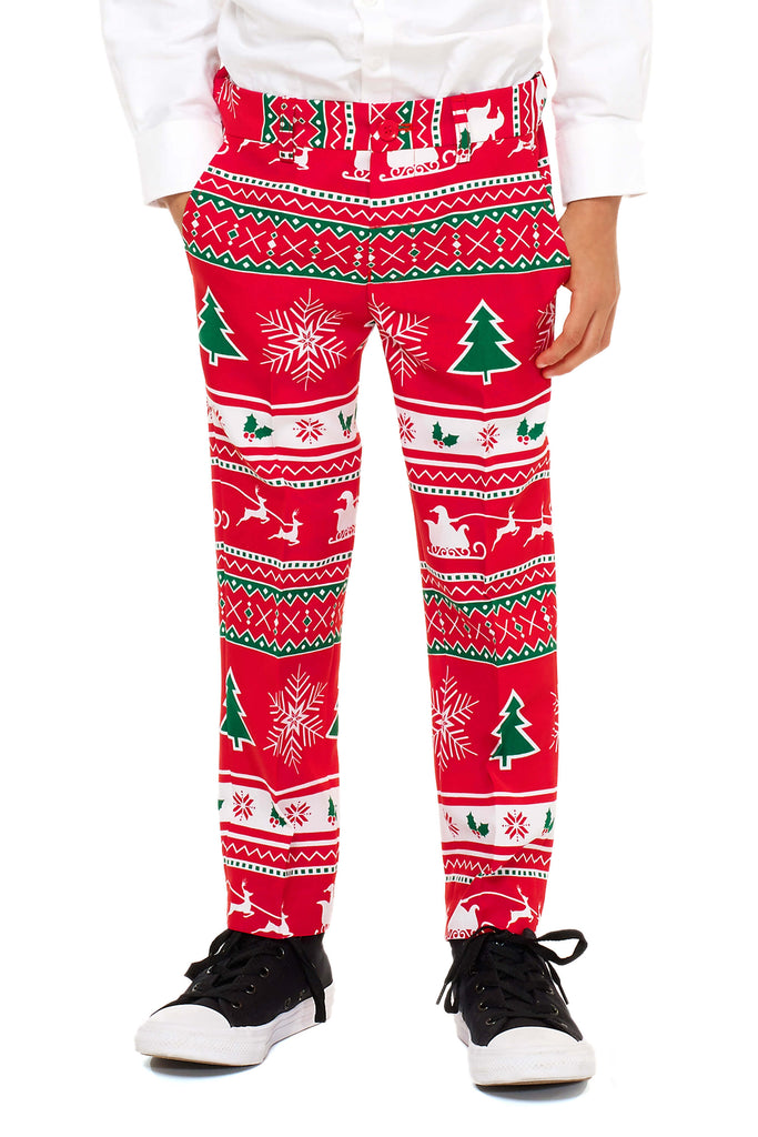 boys christmas dress pants
