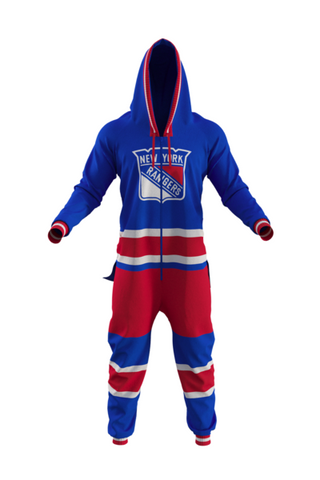 NY Rangers Onesie For Adults