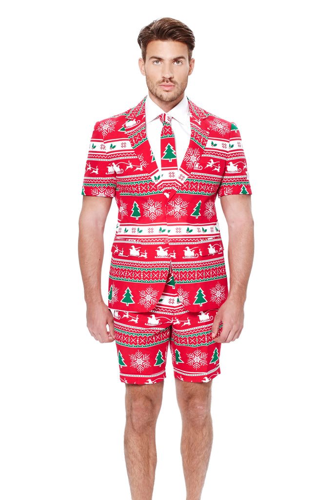 The Soiree of Sin Men's Ugly Christmas Sweater Short Suit by Opposuits