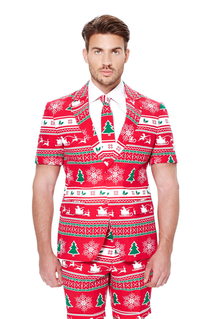 The Soiree Of Sin | Men's Ugly Christmas Sweater Short Jacket